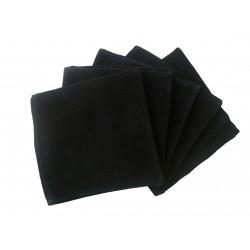Tissu velour noir antistatique