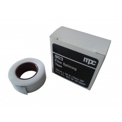 Adhésif de réparation - 16mm - Double perforation - Blanc